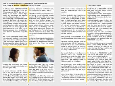 Ausschnitt aus dem Booklet der Special Edition DVD